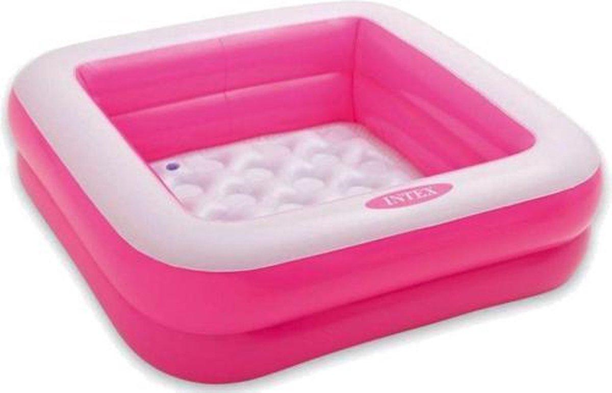 Intex opblaaszwembad Play Box 85 x 85 x 23 cm roze