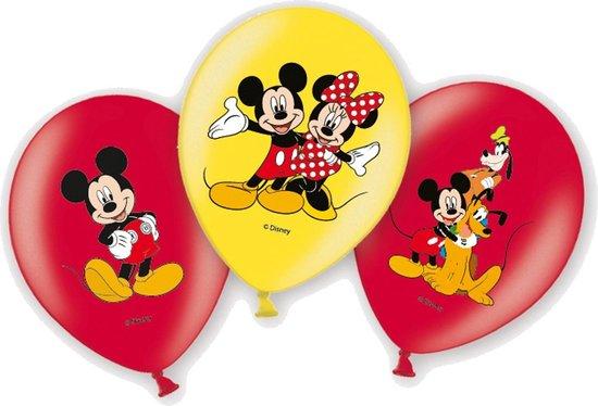Amscan Ballonnen Mickey En Minnie Mouse 6 Stuks Rood/geel