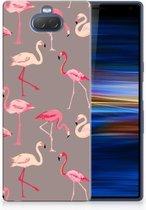 Sony Xperia 10 Plus Uniek TPU Hoesje Flamingo
