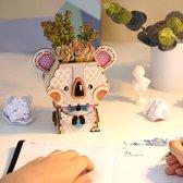 Robotime Koala FT732 - Houten Modelbouw - Bloempot - DIY