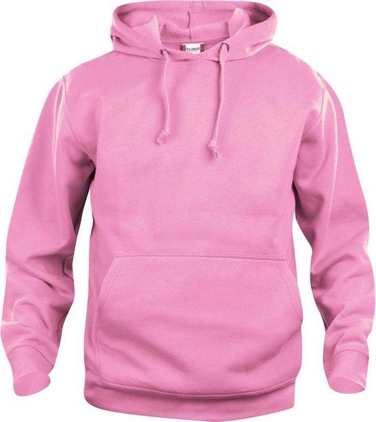 Clique Basic hoody Helder Roze maat M