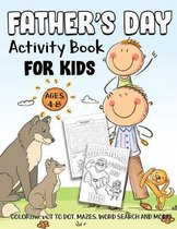 Father's Day Activity Book for Kids Ages 4-8
