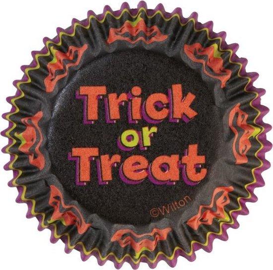 "Papieren mini cupcake vormpjes ""trick or treat"", set van 100 - Wilton"