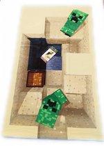 Minecraft Strandlaken - 70x140 cm - Zand/Groen