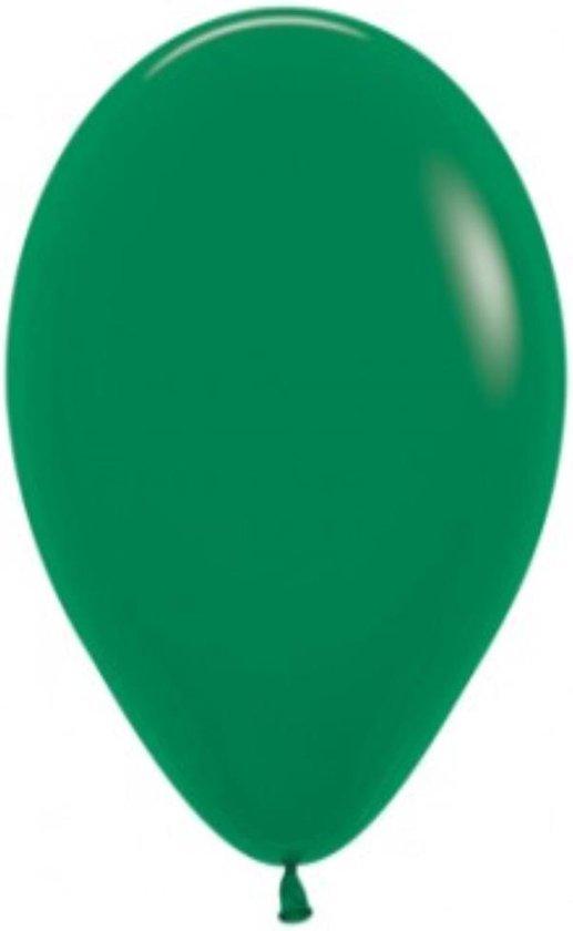 100 ballonnen groen metallic  30 cm