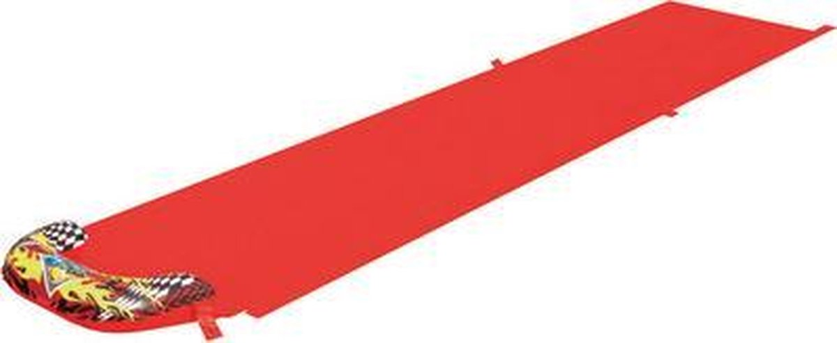 Bestway Speedway Waterglijbaan met sproeier 488cm rood