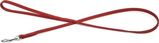 Beeztees leren looplijn Buffalo. Rood. 110 cm x 10 mm.