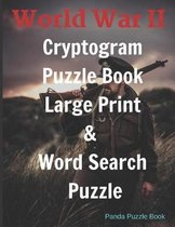 World War II Cryptogram Puzzle Books Large Print & Word Search Puzzle