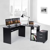 AZ-Home - Bureau Simple Zwart - Hoekbureau - Desk
