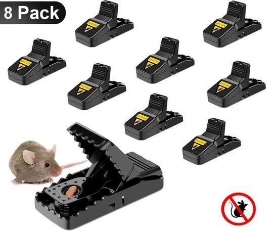 Muizenval - Rattenval - 8 Stuks - Extra sterk - Herbruikbaar - Duurzaam - Muizenvallen - 100% Pakkans