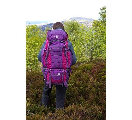 Highlander Expedition W - dames backpack - 60L - paars - Highlander