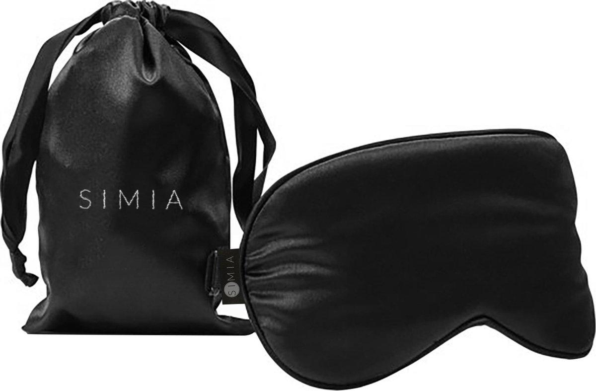 SIMIA™ Premium Zijden Slaapmasker + Opbergzakje - 100% Verduisterend Oogmasker - Verstelbaar - Blind