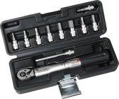 1/4 Draaimomentsleutel set 2-24Nm - 11 delige fietsgereedschap set - met Inbus en Torx doppen bitset - Fiets TorqueSet - inclusief kunststof opbergkoffer
