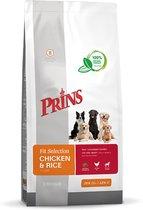 Prins Fit Selection Kip & Rijst - Hondenvoer - 15 kg