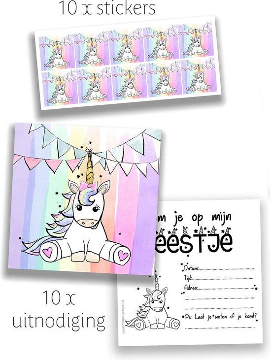 Ongebruikt bol.com | uitnodiging kinderfeest meisje - eenhoorn - unicorn - 10 HP-57