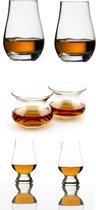 Whisky glazen proefset - 2x Glencairn - 2x Spey Dram- 2x Neat - Whisky Unlimited