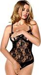Christine le Duc - Openkruis body Too Hot - zwart XL