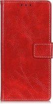 Mobigear Magnetic Retro Luxe Wallet Hoesje Rood Google Pixel 4
