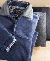 Fleece trui zwart maat L