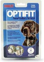 Halti OptiFit Headcollar - Hond - Anti trekhalsband - Maat L - Voor Rottweiler, Newfoundlander, Duitse herder, Duitse dog - Zwart