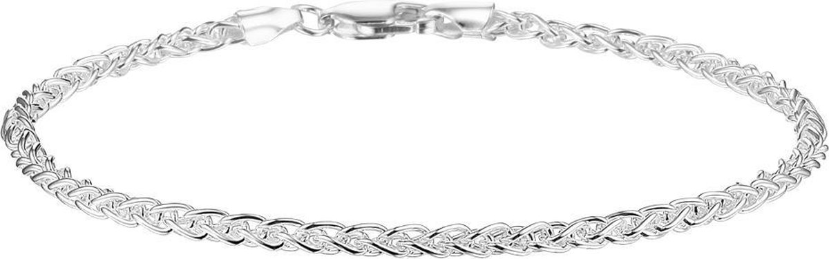 Glams Armband Vossestaart 2,5 mm 19 cm - Zilver - GLAMS