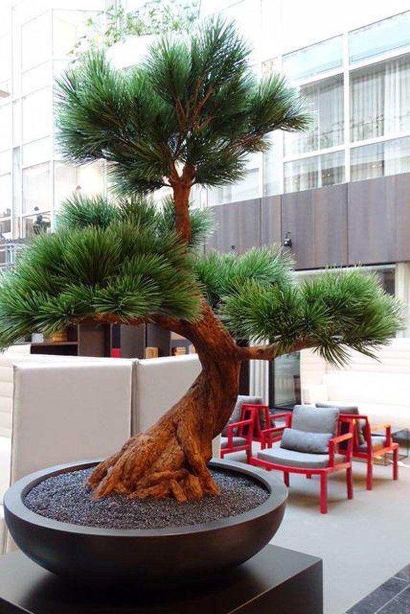 Bol Com Kunststof Bonsai Pinus Boom 80 Cm Uv Voor Buiten Met 5 Etages