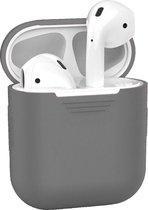Siliconen Bescherm Hoesje Cover Hoes voor Apple AirPods 2 Case - Grijs
