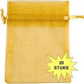 Fako Bijoux® - Organza Zakjes - 7x9cm - Goudkleurig - 20 Stuks
