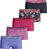 Bjorn Borg - Meisjes - 5-Pack Mia Graphic Minishorts - Multicolor - 158/164