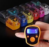 Multifunction Calorie Healthy Digital Electronic Pedometer Step Counter with Waist Clip  High Quality Ring Counter With LED Light  Electronic Finger Ring Counter  Random Color Delivery