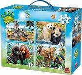 Dieren wereld 4 in1 Legpuzzel