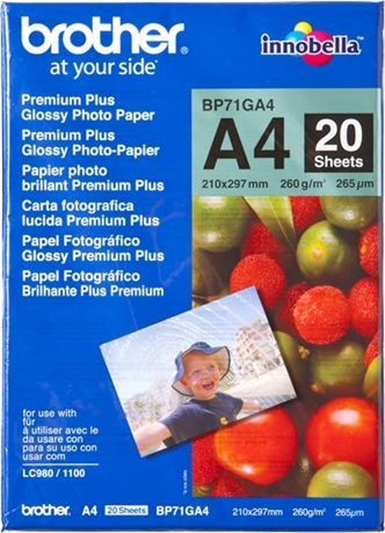 Brother Glossy Fotopapier -A4 / 20 Vellen
