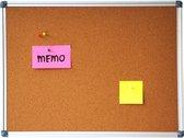 Afbeelding van Prikbord kurk 60 x 90 cm met aluminium lijst