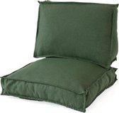 2L Home & Garden Loungekussenset Metro Lounge Olijf - 2 delig