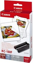 KC-18IF photo sticker inktjet 54x86mm 18 sheets 10-pack with ink cassette for CP-100