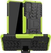 Samsung Galaxy A71 hoes - Schokbestendige Back Cover - Groen