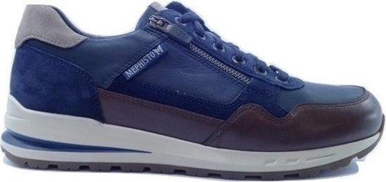 Mephisto Bradley Sneaker Blauw Bruin 45