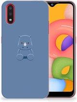 Samsung Galaxy A01 Telefoonhoesje met Naam Baby Rhino