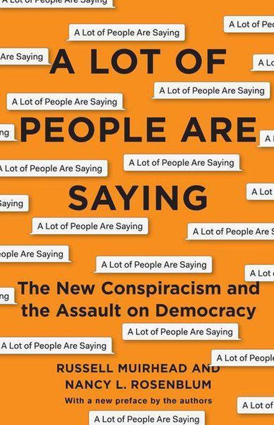 Boek cover A Lot of People Are Saying van Nancy L. Rosenblum (Onbekend)