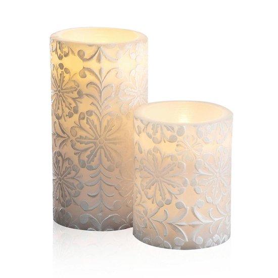 Pauleen Little Lilac - Wax LED Kaarsen - Set van 2