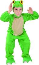 LUCIDA - Kikker kostuum voor kinderen - S 110/122 (4-6 jaar) - Kinderkostuums