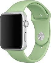 Rubberen sport bandje voor de Apple Watch 42mm - 44mm M/L - Mint Watchbands-shop.nl