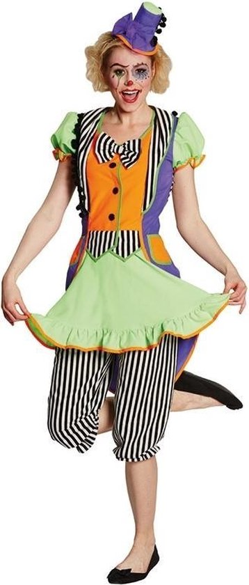 Rubie's Verkleedkostuum Clown Dames Multicolor Maat 36
