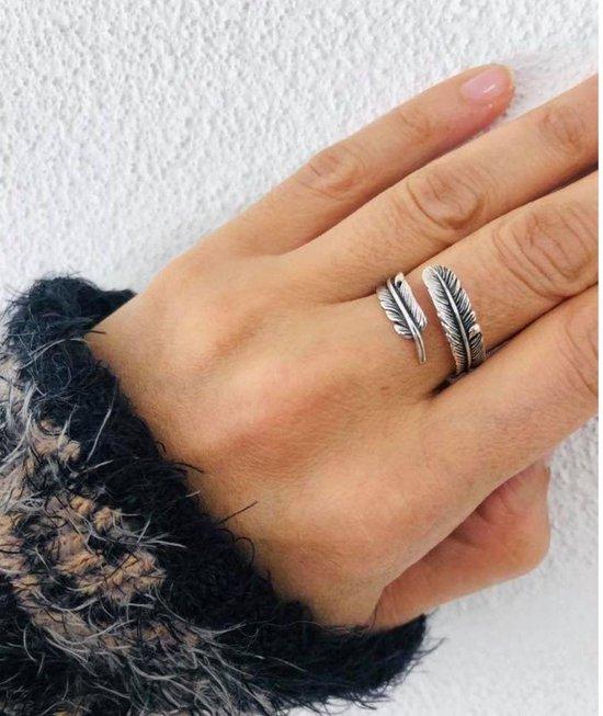 - Boho Veer Ring - Zilver - One size