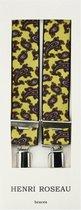 Henri Roseau bretels paisley print geel