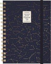 Legami notitieboek - spiraal - A5 formaat - gelinieerd - STARS