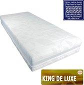 Slaaploods.nl King de Luxe - Micro Pocketvering Matras - Latex Afdeklaag - 90x200x25 cm - Hard