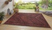Binnen & buiten vloerkleed Mardin - rood/zwart 160x230 cm