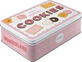 Tin box flat - Wonder cookies