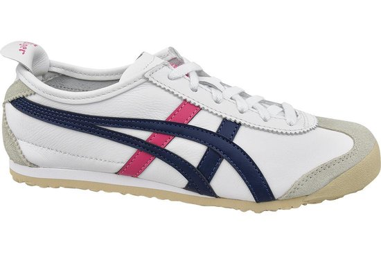 Onitsuka Tiger Mexico 66 Unisex Sneakers - White/Navy/Pink - Maat 41.5